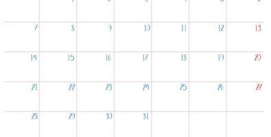 Calendario Solidario Menudos_Dias mes