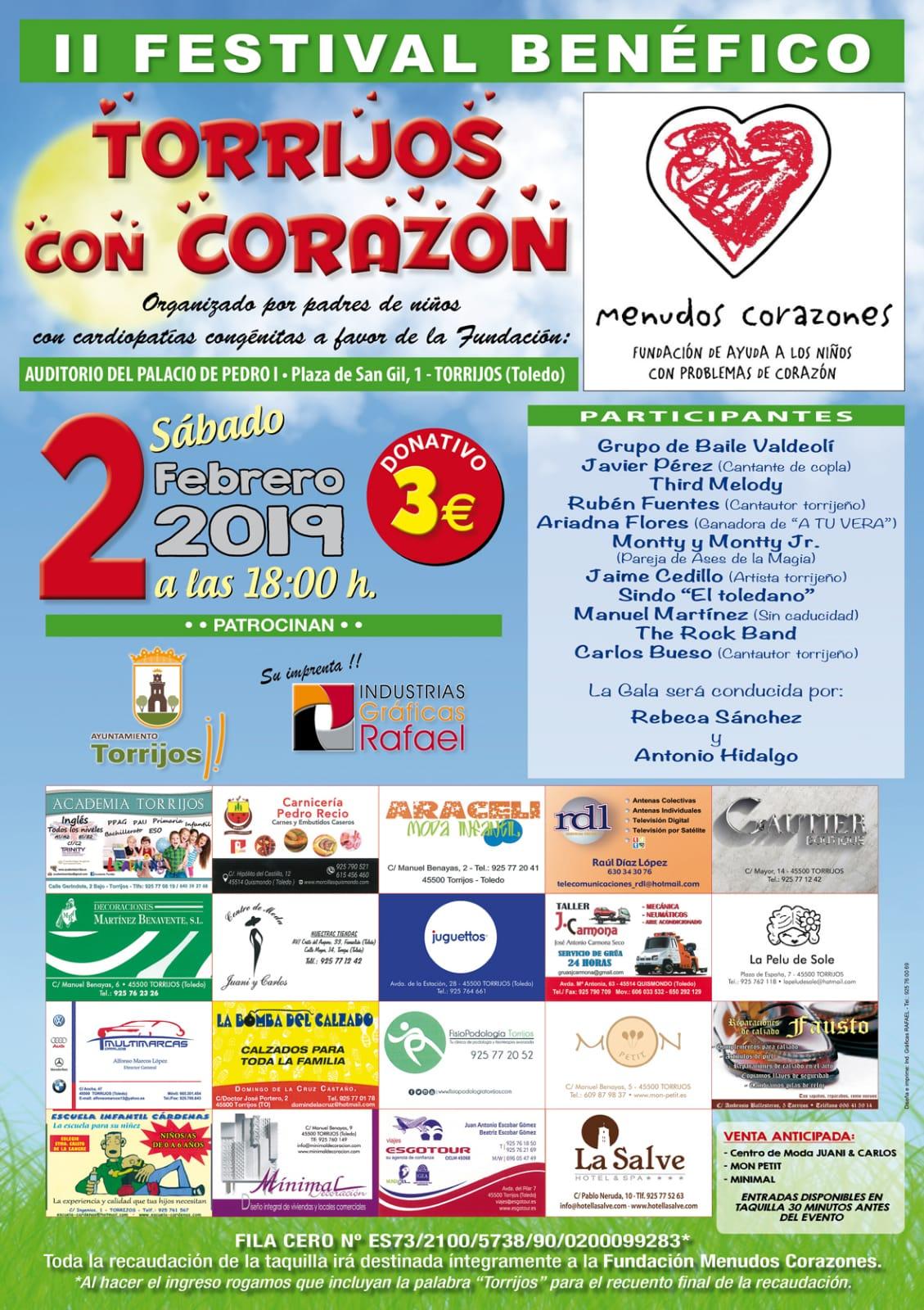 Concierto solidario II Festival Benéfico en Torrijos (Toledo)