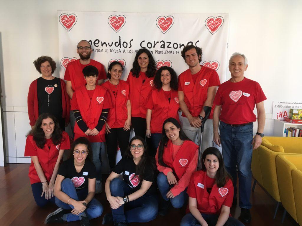 Voluntarios V Jornada cardiología Pediátrica_HGM y Menudos Corazones