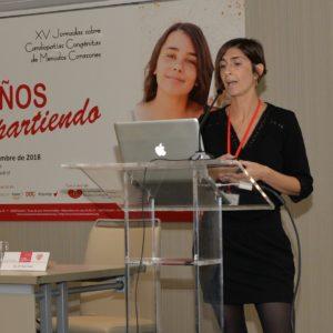 La doctora Rosa Collell presentó su investigación, ganadora de la primera edición de la Beca Menudos Corazones, en las XV Jornadas sobre Cardiopatías Congénitas de esta fundación, el pasado noviembre