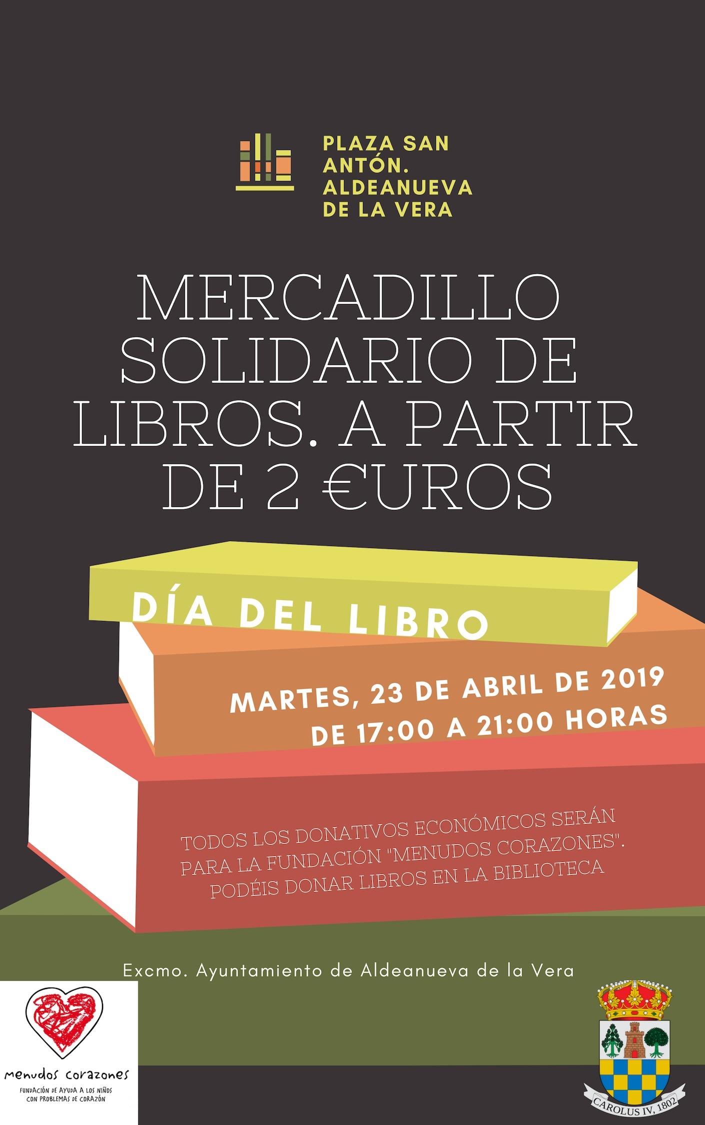 Mercadillo solidario de libros_Aldeanueva de la Vera