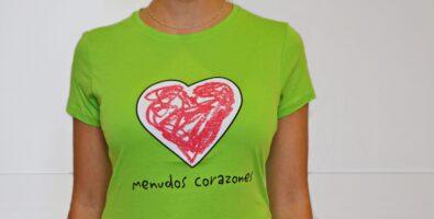 Camiseta verde - Menudos Corazones (1)