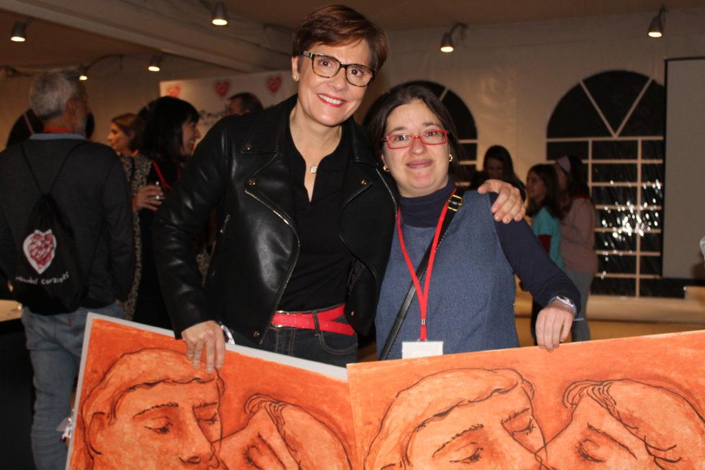 Beatriz y Pilar, voluntarias de Menudos Corazones galardonadas.