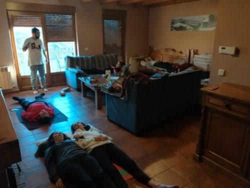 Taller de relajación en el Puente Cardioasaludable - Proyecto para Jóvenes de Menudos Corazones