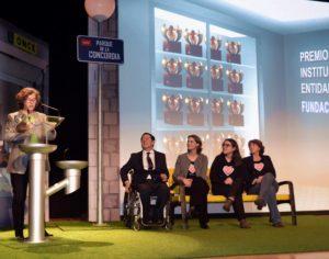 Agradecimiento de María Escudero, presidenta de Menudos Corazones, tras la entrega del Premio Solidarios ONCE a la Fundación