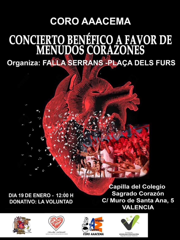 Cartel del concierto solidario organizado por alla Serrans