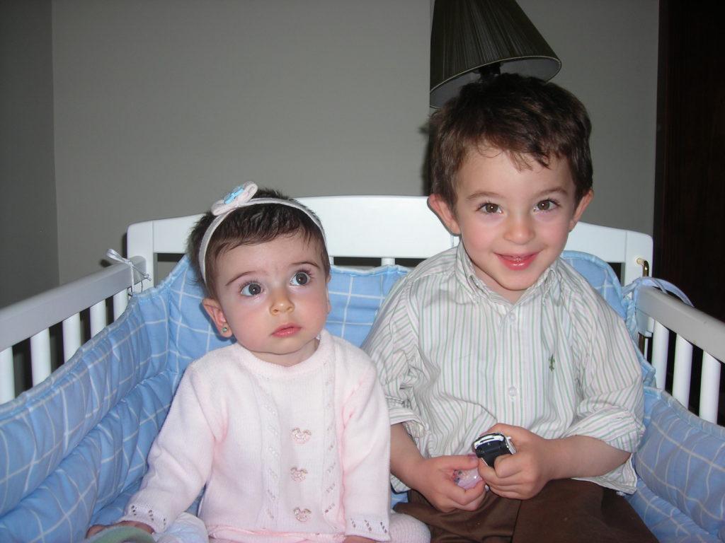María y Juan, de pequeños