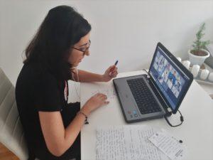 Foto del encuentro virtual para adolescentes de Menudos Corazones