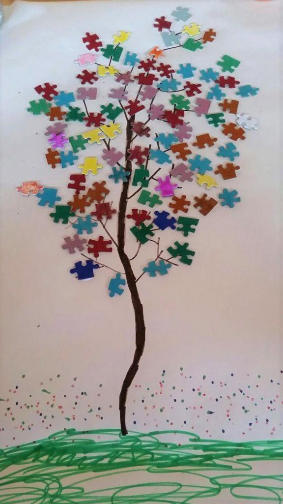 Árbol de piezas de puzle