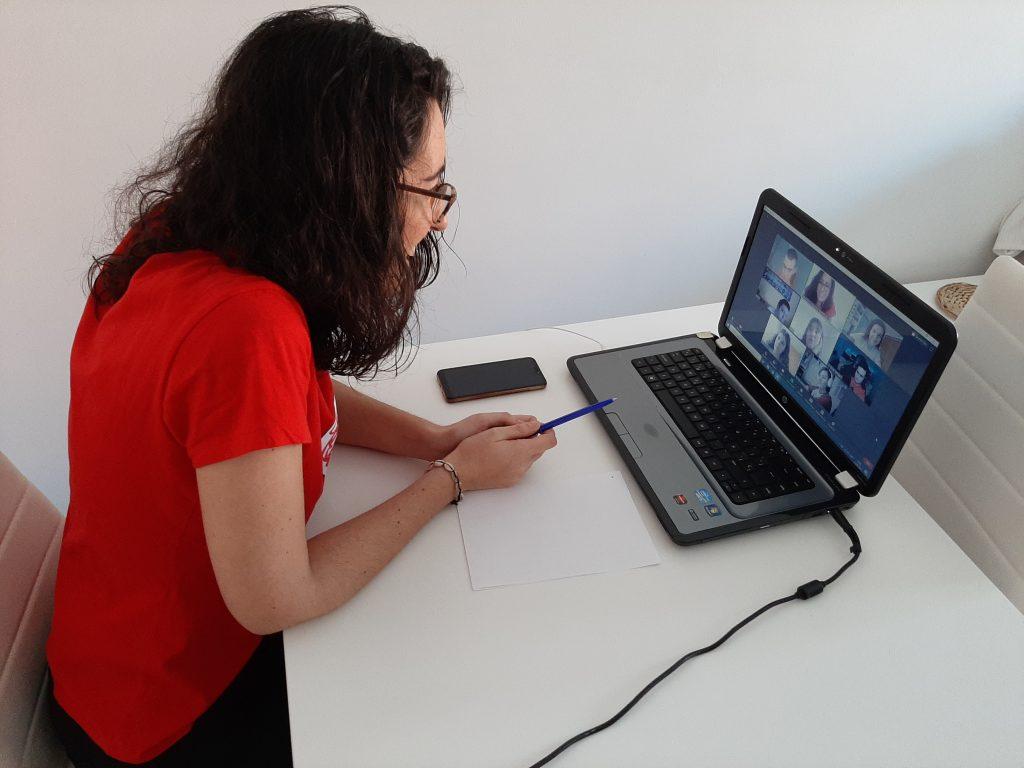 Foto del segundo encuentro virtual para adolescentes de Menudos Corazones
