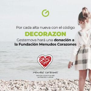 Imagen de la campaña de apoyo de Gesternova a Menudos Corazones