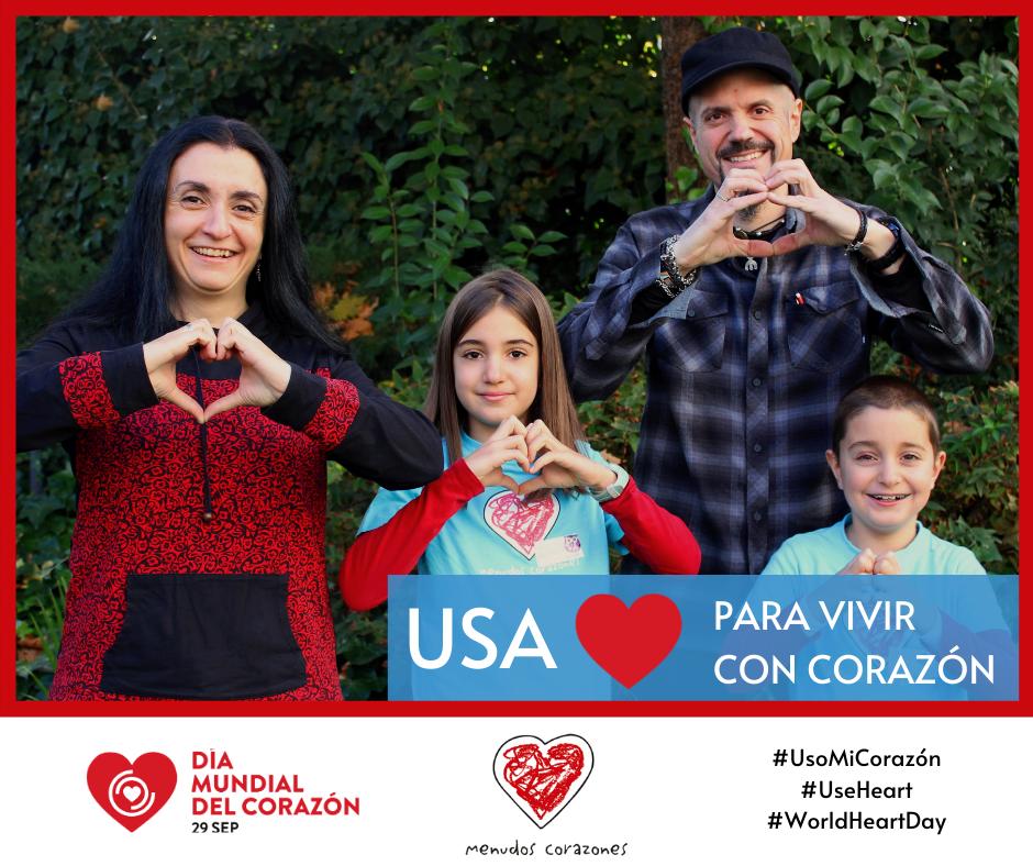 Imagen de la campaña del Día Mundial del Corazón: usa corazón para vivir con corazón