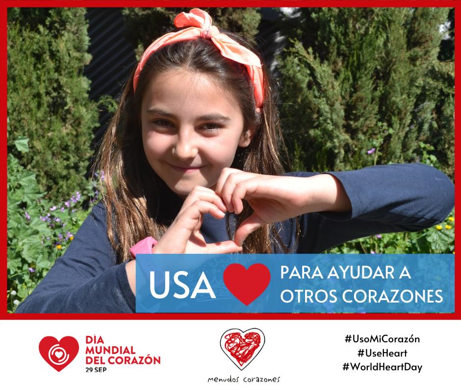 Imagen de la campaña del Día Mundial del Corazón en 2020