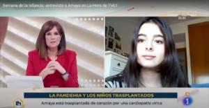 Fotograma de la entrevista de Amaya en TVE