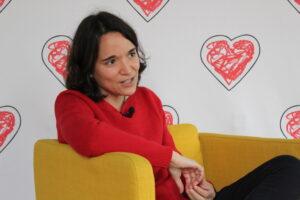 La cardióloga infantil Elena Montañés, durante la entrevista