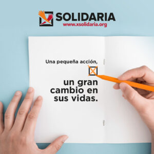 Imagen perteneciente a la campaña de la campaña de la X Solidaria en 2021